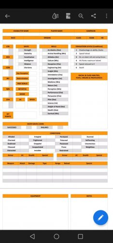 Stargate Blank Character Sheet (2 pages)